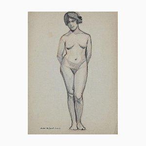 André Meaux Saint-Marc, Akt, Bleistift auf Papier, Frühes 20. Jahrhundert