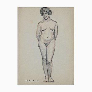André Meaux Saint-Marc, Nude, Pencil on Paper, Early 20th Century