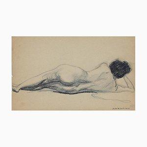 André Meaux Saint-Marc, Akt Frau, Bleistift auf Papier, Frühes 20. Jahrhundert