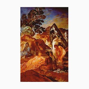 Felice Carena, Serenity, Oil on Canvas, 1948