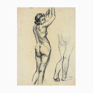 André Meaux Saint-Marc, Nude Woman, Pencil on Paper, Early 20th Century