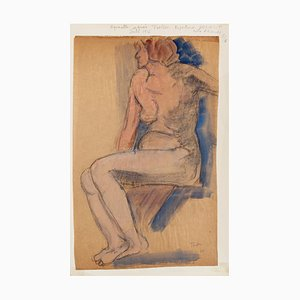 Unknown, Nude of Woman, Mixed Media, 1926