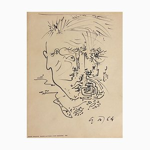 André Masson, Abstract Composition, Etching, 1965