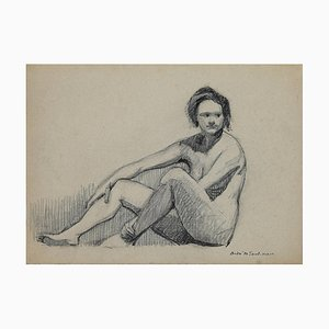 André Meauxsaint-Marc, Nude, Pencil Drawing, Early 20th Century