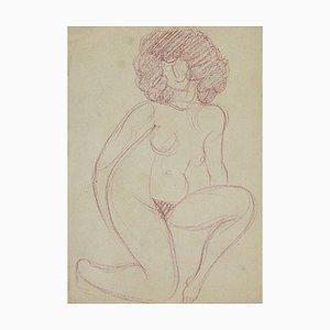 André Meauxsaint-Marc, Nackte Frau, Bleistiftzeichnung, frühes 20. Jahrhundert