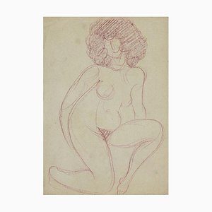 André Meauxsaint-Marc, Naked Woman, Pencil Drawing, Early 20th Century