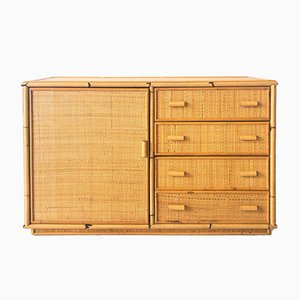 Credenza in Bamboo and Rattan, 1970s