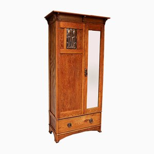 Small Proportioned Oak Arts and Crafts Wardrobe