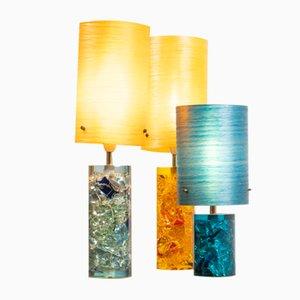 Tischlampe aus Harz & Fiberglas, 1970er