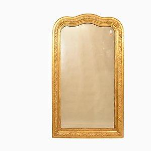 Antique Gilded Mirror in Original Gold Leaf Frame