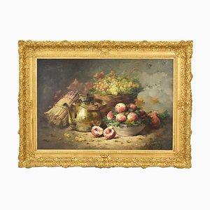 Gemüse & Obst, Öl auf Leinwand, 19. Jahrhundert