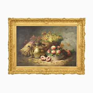 Vegetable and Fruit, Oil on Canvas, 19th Century