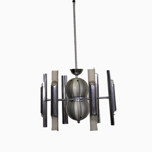 Chromed Ceiling Lamp from Toscana Luce, 1970s