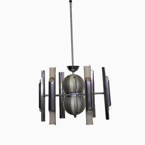 Verchromte Deckenlampe von Toscana Luce, 1970er