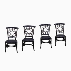 Bamboo Dining Chairs from Pier 1 Imports, 1980s, Set of 4