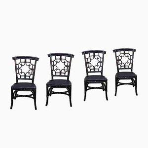 Chaises de Salon en Bambou de Pier 1 Imports, 1980s, Set de 4