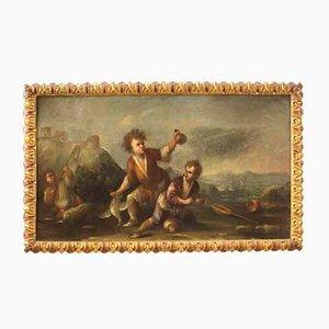 Antique Landscape with Children, 18th Century