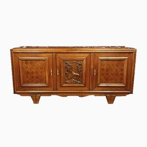 Art Deco Walnut Buffet, 1920s