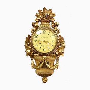 Orologio da parete Luigi XVI in legno dorato, anni '20