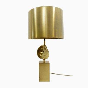 Lampada da tavolo Shell di Jaques Charles per Maison Charles, anni '70