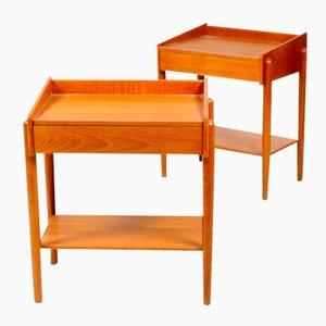 Tables d'appoint Midcentury par Børge Mogensen pour Søborg Møbelfabrik, 1950s, Set de 2