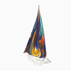 Barca a Vela Murano Glass by Valter Rossi for Vrm