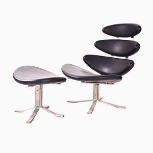 EJ 5 Corona Chair von Poul Volther, 1960er