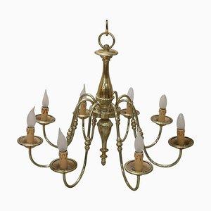 Gilt Brass Ceiling Lamp, 1950s