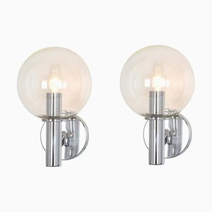 Glas Wandlampen von Kaiser Idell / Kaiser Leuchten, Deutschland, 1960er, 2er Set