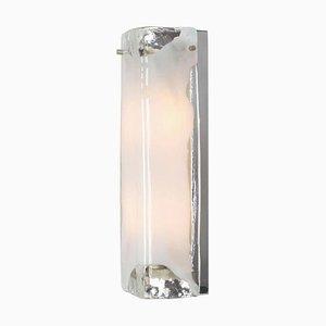 Aplique grande de cristal de Murano y metal cromado de JT Kalmar para Kalmar, años 60