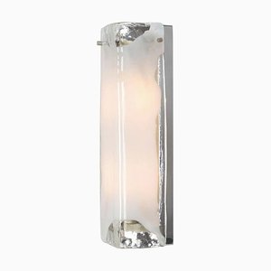 Large Murano and Chrome Sconce by J. T. Kalmar for Kalmar, 1960s