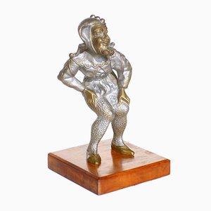 Bronze Italian Sculpture of Jester, 1970s