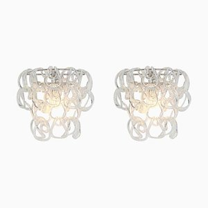 Large Murano Sconces by Angelo Mangiarotti for Vistosi, 1960s, Italy, Set of 2