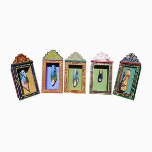 Wooden Shoe Paintings, Set of 5