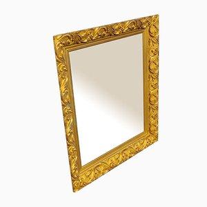 Gold Verzierter Holzspiegel, 1920er