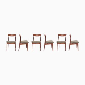 Rosewood Dining Chairs by H. P. Hansen for Randers Møbelfabrik, 1960s, Set of 6