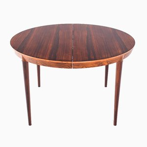 Rosewood Model 71 Dining Table by Severin Hansen for Haslev Møbelsnedkeri, 1960s