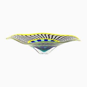 Centro de mesa de cristal de Murano Reticello de Valter Rossi para VRM