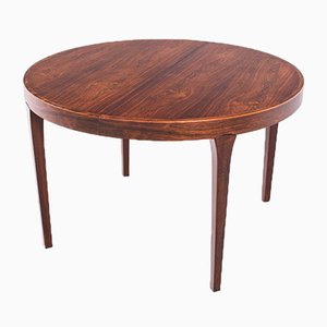 Danish Extendable Round Dining Table in Rosewood, 1960s