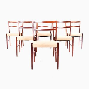 Rosewood Dining Chairs by Johannes Andersen for Bernhard Pedersen & Søn, 1960s, Set of 6