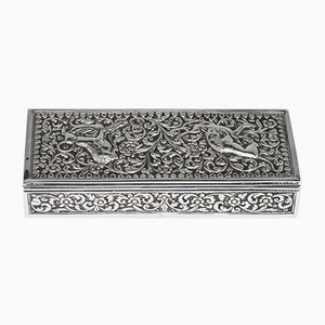 Antique Solid Silver Stamp Box