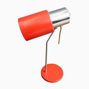 Lampe de Bureau Rouge et Chrome 1636 par Josef Hurka pour Napako, 1960s