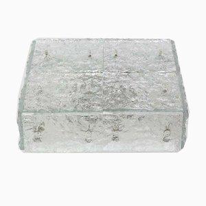 Großer Murano Eisglas Einbau von Kalmar, 1960er