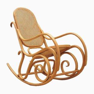 Danish Beech Rocking Chair, 1970s