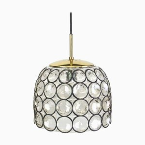 Iron and Clear Glass Pendant Light from Limburg, 1960s