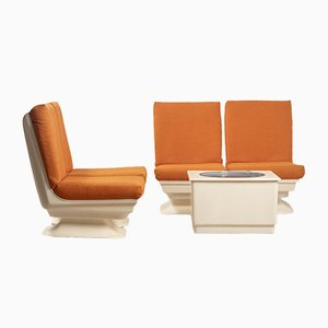 French Space Age Living Room Set, 1970s, Set of 5