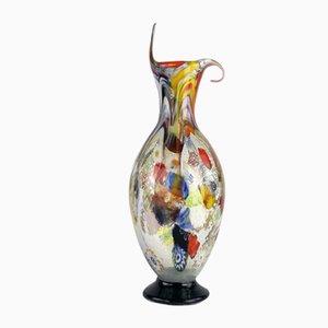 Jarrón murrino y plateado de cristal de Murano de Valter Rossi para VRM