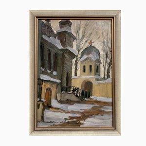 Orthodoxe Kirche, Öl auf Holz, 1936