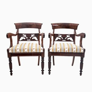 Renovated Antique Armchairs, Late 1800s, Set of 2
