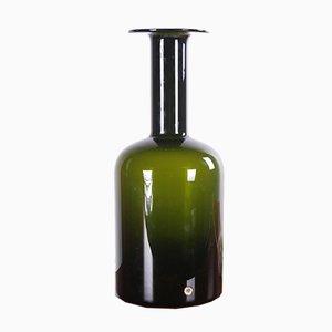 Vaso in vetro verde scuro di Otto Brauer per Kastrup Holmegaard, Scandinavia, anni '60